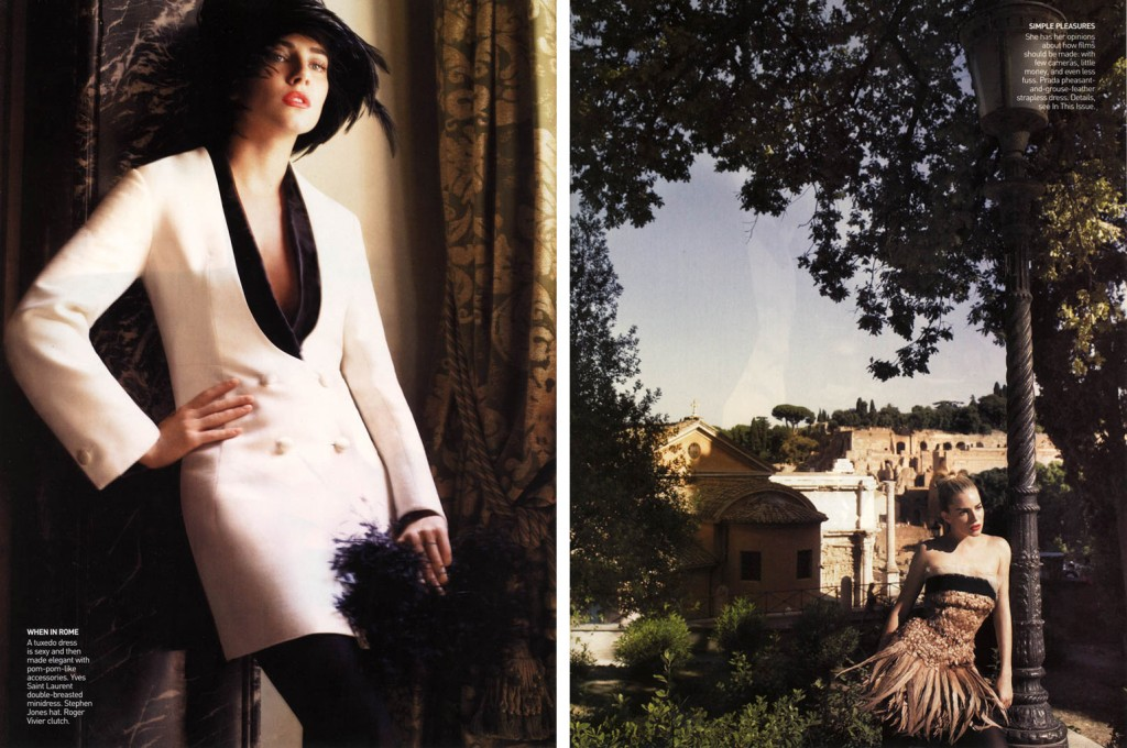 VOGUE USA - 2006 Photographer: Mario Testino Model: Sienna Miller - Riccardo Scamarcio Stylist: Tonne Goodman Location: Rome - Italy