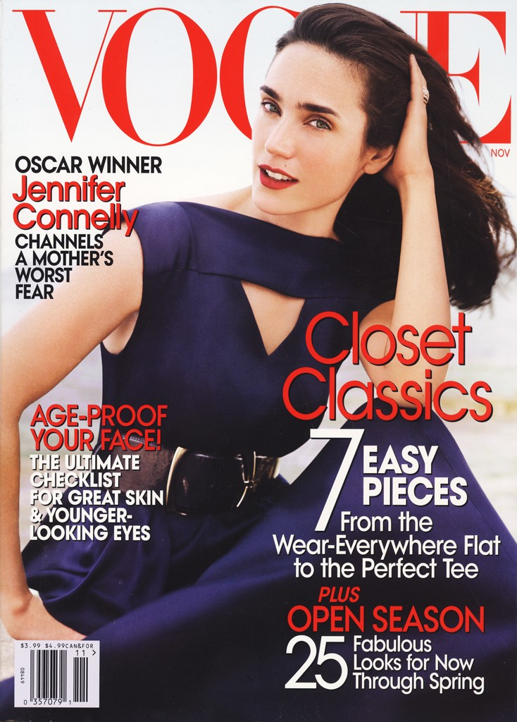 VOGUE USA - 2007 Photographer: Mario Testino Model: Jennifer Connelly Stylist: Tonne Goodman Location: Sardinia - Italy