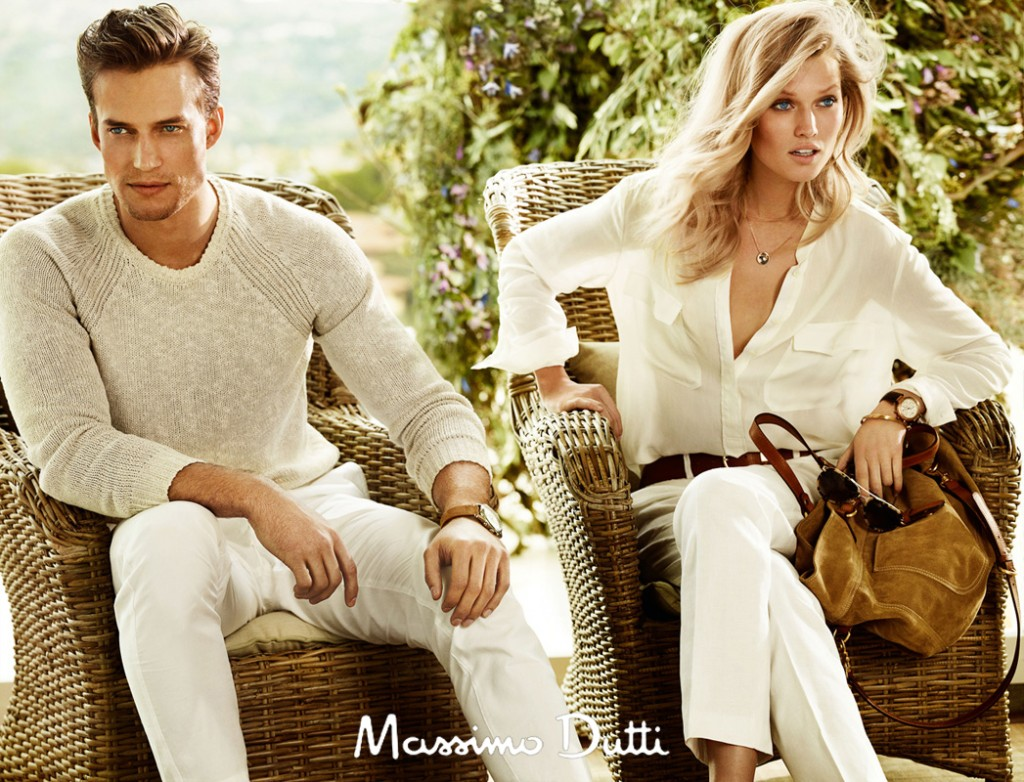 MASSIMO DUTTI - S/S 2013 Photographer: Mario Testino Model: Dave Genat - Toni Garrn Stylist: Beat Bolliger Location: Madrid - Spain