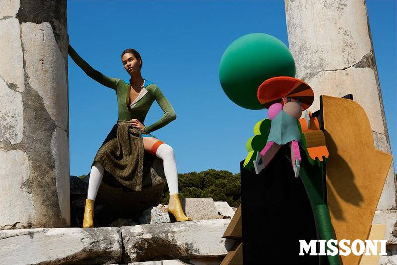 MISSONI - Women's F/W 2014 Photographer: Viviane Sassen Model: Joan Smalls Stylist: Vanessa Reid Location: Ephes - Turkey