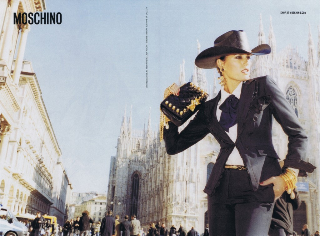 MOSCHINO - S/S 2011 Photographer: Juergen Teller Model: Yasmin Le Bon Stylist: Anna Dello Russo Location: Milan - Italy