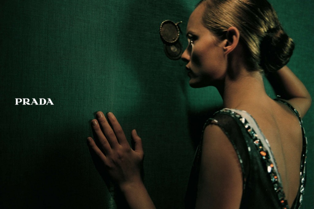 PRADA - Women's F/W 1997 Photographer: Glen Luchford Model: Amber Valletta Stylist: Alex White Location: Rome - Italy