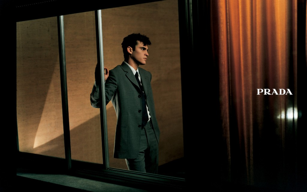 PRADA - Men's S/S 1997 Photographer: Glen Luchford Model: Joaquin Phoenix Stylist: David Bradshaw Location: Milan - Italy