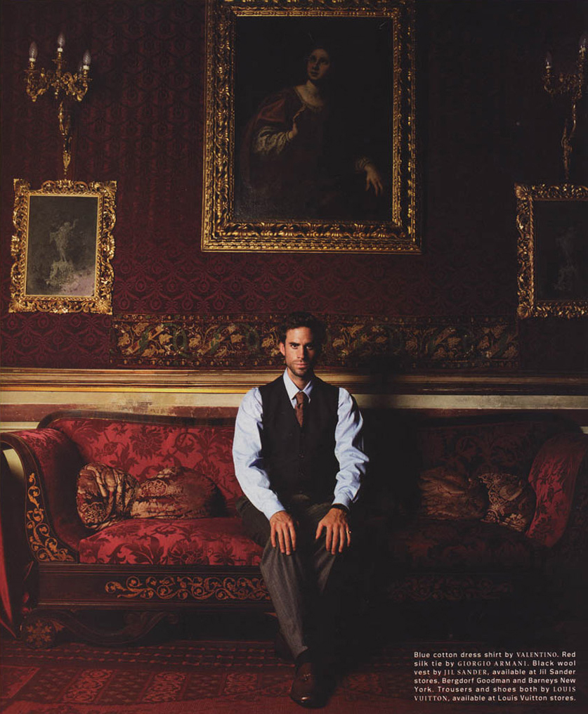 DETAILS - 2000 Photographer: Michael Tompson Model: Joseph Fiennes Stylist: Joe Zee Location: Sicily - Italy