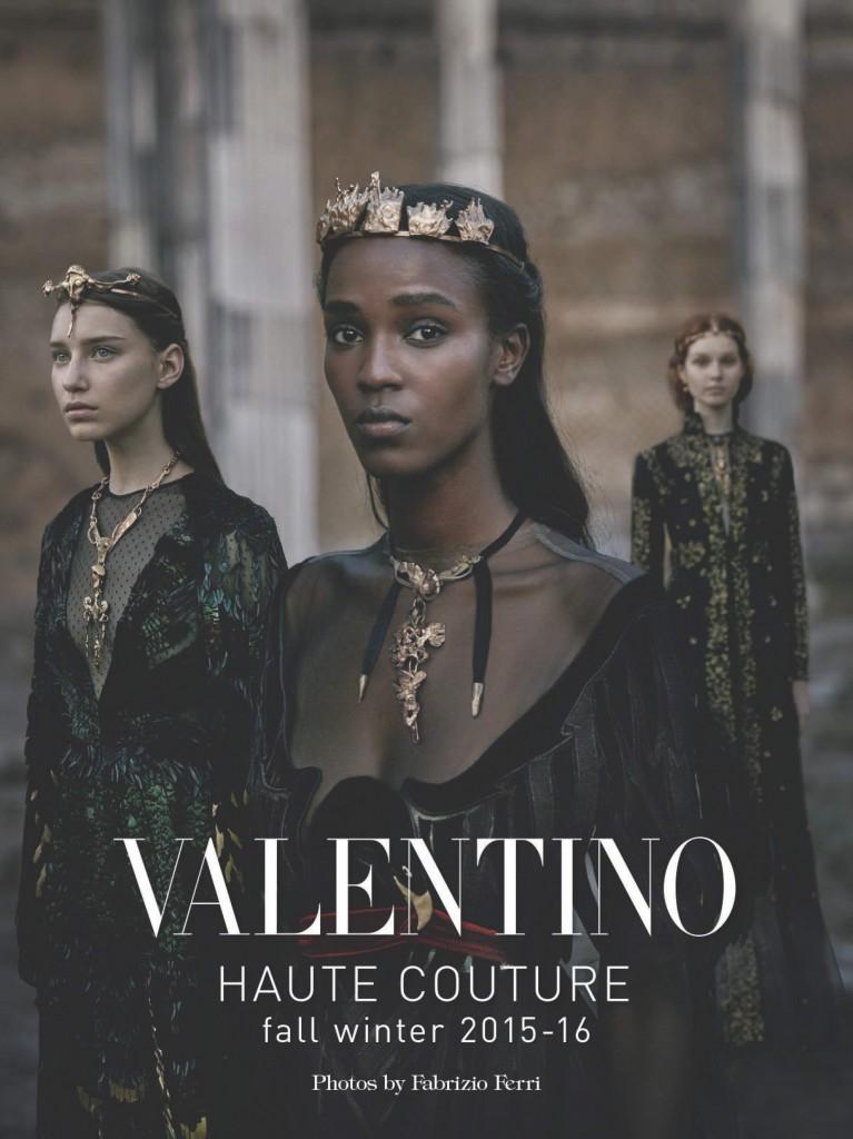VOGUE ITALIA - Valentino: Haute Couture 2015 Photographer: Fabrizio Ferri Stylist: Rober Rabenstainer Location: Rome - Italy