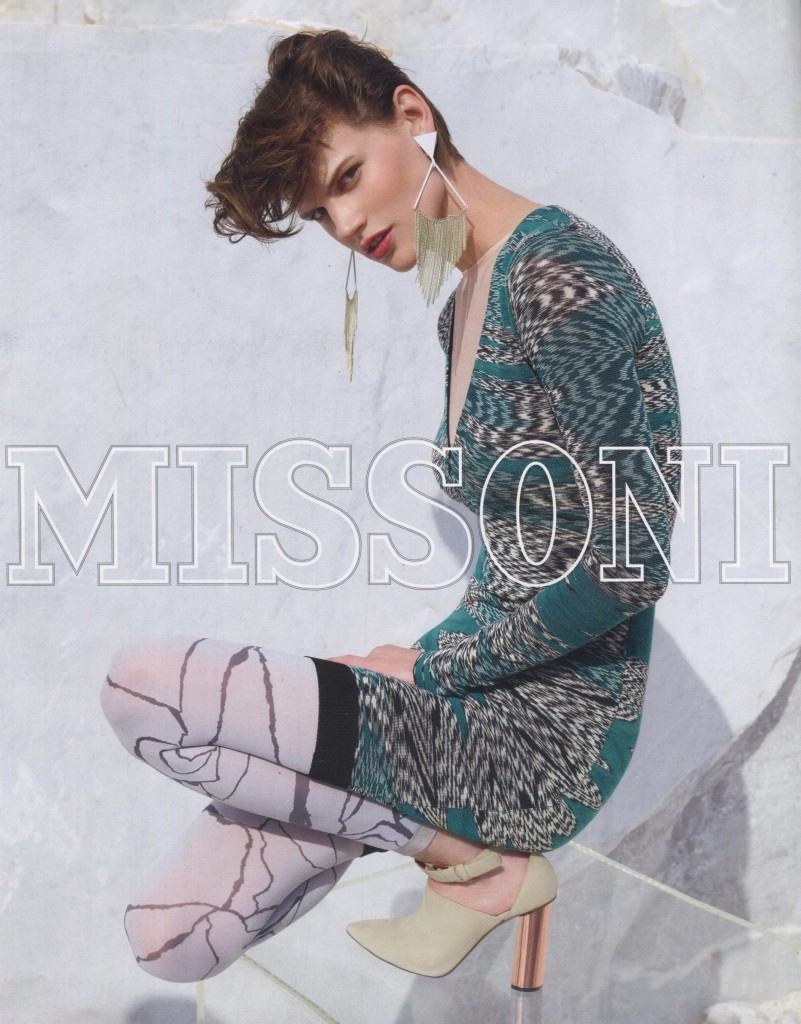 MISSONI - Women's F/W 2015 Photographer: Viviane Sassen Model: Saskia de Brauw - Roch Barbot Stylist: Vanessa Reid Location: Carrara - Italy