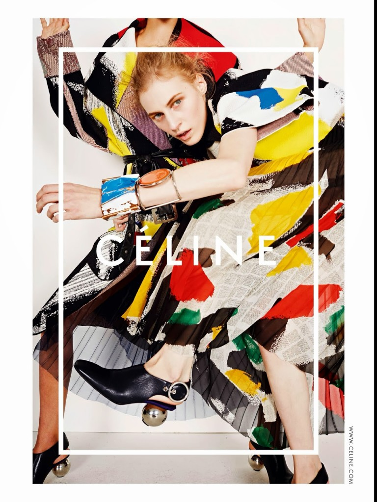 CÉLINE - S/S 2014 Photographer: Juergen Teller Model: Amanda Murphy - Binx Walton - Chiharu Okunugi - Daria Werbowy Stylist: Phoebe Philo Location: London - UK