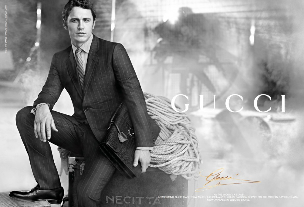 GUCCI - 2011 Photographer: Nathaniel Goldberg Model: James Franco Stylist: Melanie Ward Location: Rome - Italy