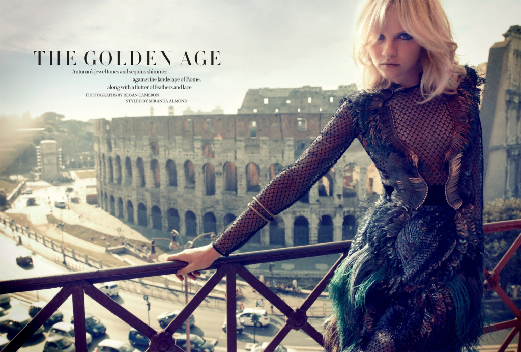 HARPER'S BAZAAR - 2013 Photographer: Regan Cameron Model: Ginta Lapina Stylist: Miranda Almond Location: Rome - Italy