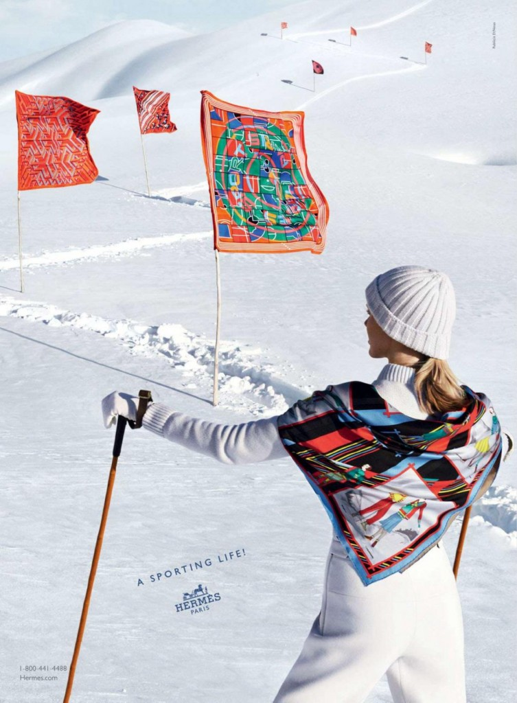 HERMES - F/W 2013  Photographer: Nathaniel Goldberg Model: Iselin Steiro & Vincent Banic Stylist: Clare Richardson Location: Cortina - Italy