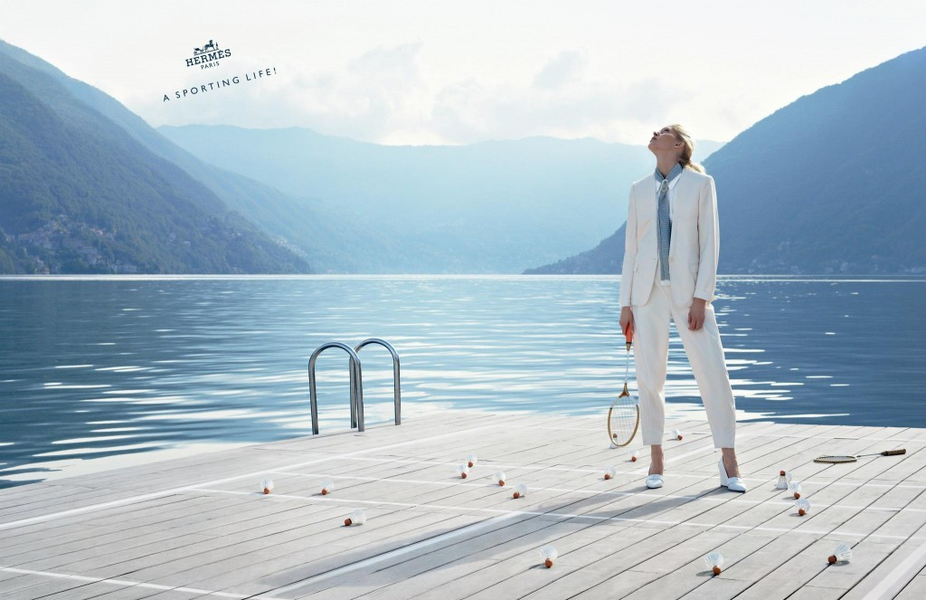 HERMES - S/S 2013 Photographer: Nathaniel Goldberg Model: Iselin Steiro & Robert Westergaard Stylist: Thierry Colson Location: Como - Italy