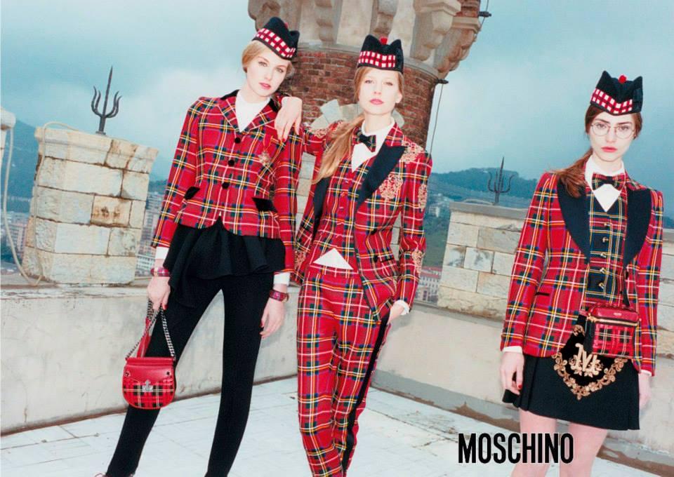 MOSCHINO - F/W 2014 Photographer: Juergen Teller Model: Dauphine Mckee - Elisabeth Erm - Marine Deleeuw Stylist: Anna Dello Russo Location: Genova - Italy