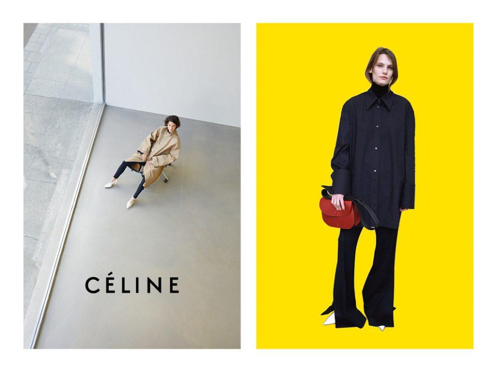 CÉLINE - Fall Winter 16/17 Photographer: Juergen Teller Model: Charlee Fraser, Frederikke Sofie, Karly Loyce, Lena Hardt, Marte Mei van Haaster