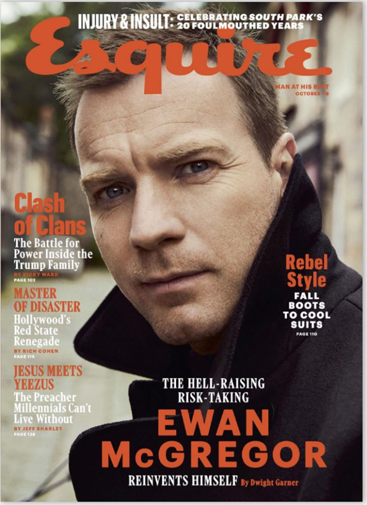 ESQUIRE US - October 2016 Photographer: Dusan Reljin Model: Ewan McGregor Location: Edinburgh, Scotland