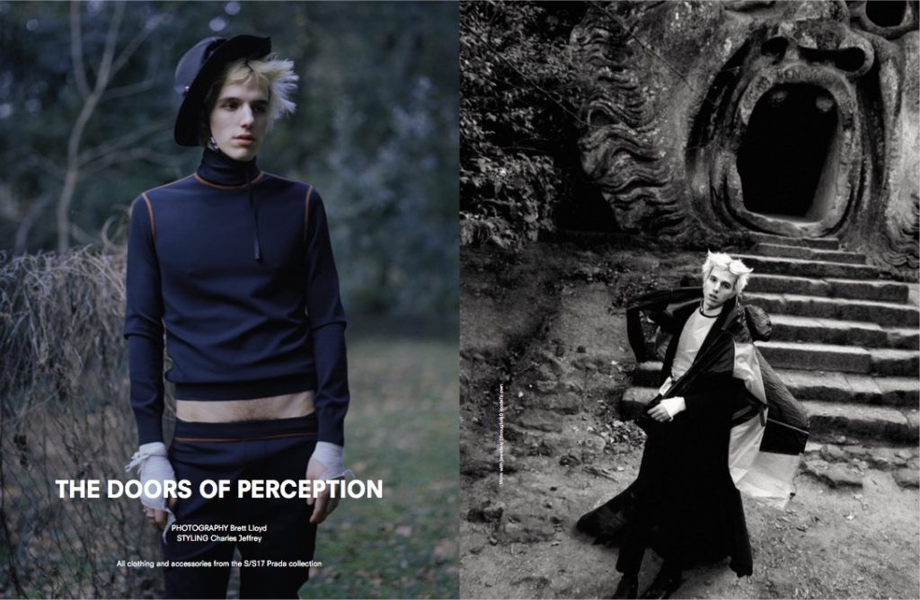 ANOTHER MAN - SS17 Photographer: Brett Lloyd Model: Nick Hadad Stylist: Charles Jeffrey Location: Bomarzo, Italy