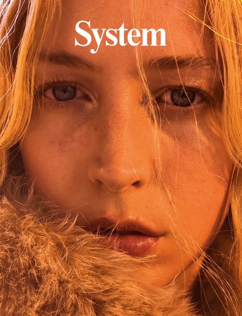 SYSTEM - April 2017 Photographer: Juergen Teller Model: Raquel Zimmerman Stylist: Alexia Niedzielski Location: Canada