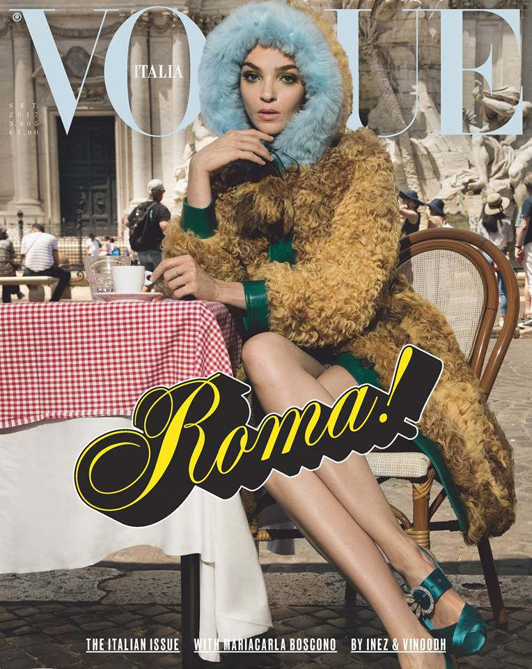 VOGUE ITALIA - September 2017 Photographer: Inez & Vinoodh Model: Mariacarla Boscono, Saskia De Brauw, Othilia Simon Stylist: Alex White Location: Rome, Italy