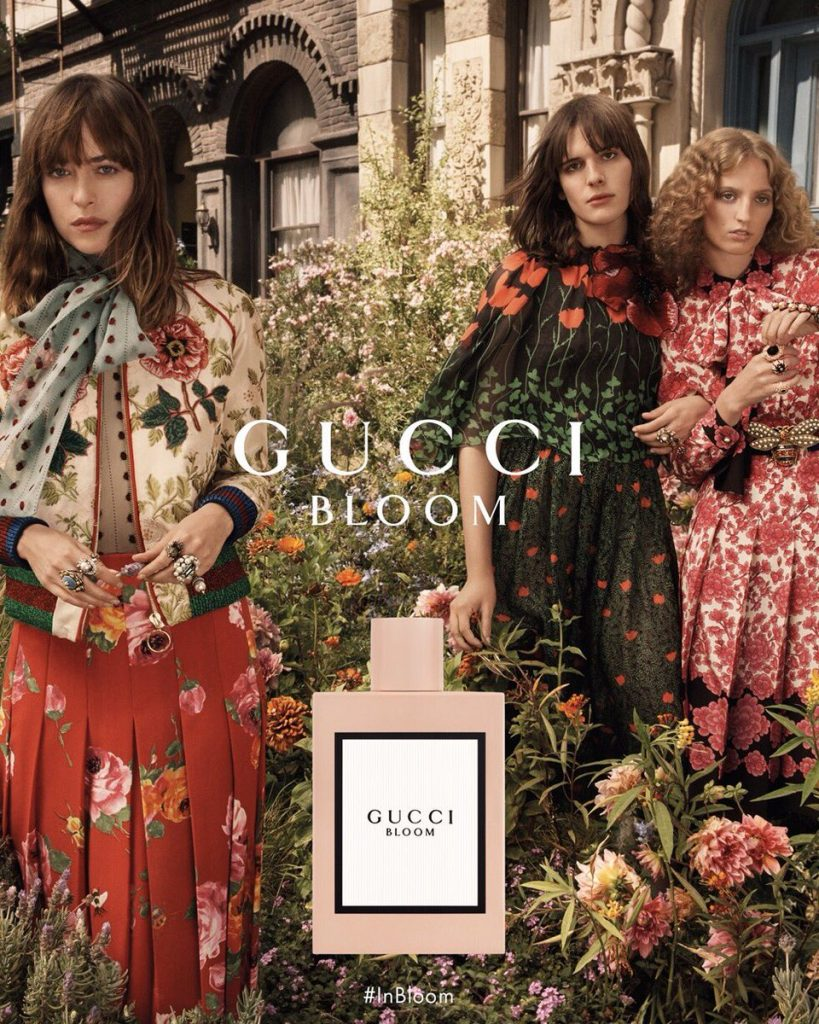 GUCCI  - Bloom Photographer: Glen Luchford Model: Dakota Johnson, Hari Nef, Petra Collins Stylist: Joe McKenna Location: Los Angeles, US