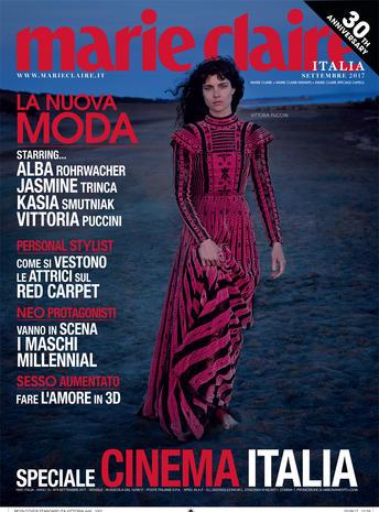 MARIE CLAIRE ITALIA - September 2017 Photographer: Fabrizio Ferri Model: Vittoria Puccini Stylist: Laura Seganti Location: Italy