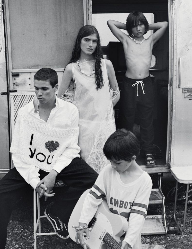 VOGUE RUSSIA - September 2017 Photographer: Ben Weller Model: Federico Spinas and Skylar Tartz Stylist: Margherita Moro Location: UK