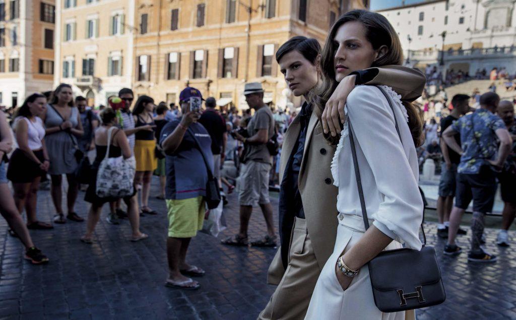 VOGUE ITALIA - September 2017 Photographer: Inez & Vinoodh Model: Mariacarla Boscono, Saskia De Brauw, Othilia Simon Stylist: Alex White Location: Rome, Italy
