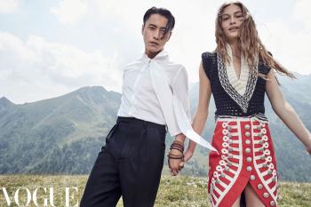 VOGUE CHINA - October 2017 Photographer: Nathaniel Goldberg Model: Chen Kun and Grace Elizabeth Stylist: Daniela Paudice Location: Italy