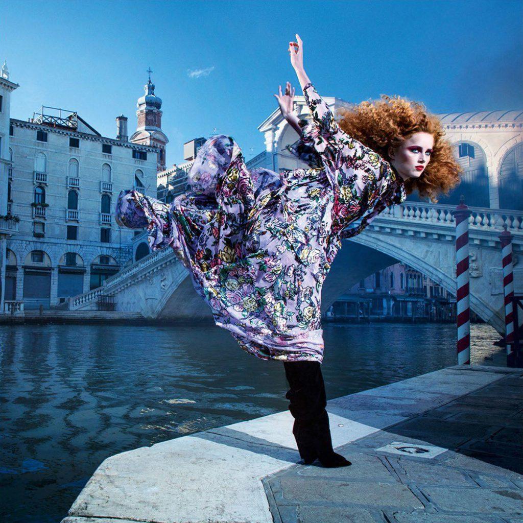 VOGUE PARIS - November 2017 Photographer: Inez & Vinoodh Model: Anja Rubik, Rianne Von Rompey, Anna Ewers Location: Venice, Italy