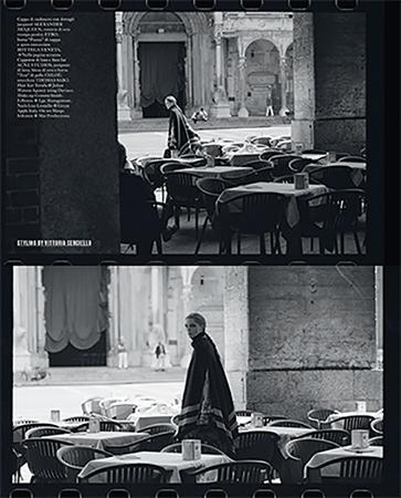VOGUE ITALIA - October 2018 Photographer: Dario Catellani Model: Maria Carla Boscono  Stylist: Vittoria Cerciello Location: Cremona, Italy