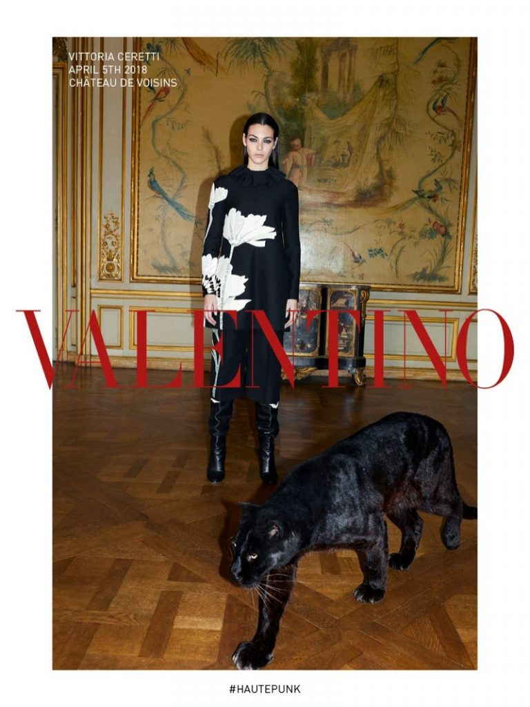 VALENTINO - Fall Winter 18 Photographer: Juergen Teller Model: Vittoria Ceretti, Adut Akech, Fran Summers Stylist: Joe McKenna