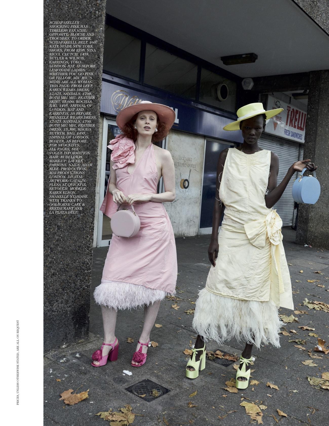 VOGUE UK - 2019 Photographer: Jurgen Teller Model: Karen, Shanelle Location: London